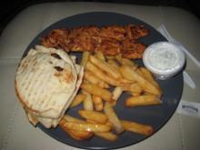A nice arrangement of tasty Greek food.