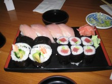 Check out those pieces with just fish. Yeah. Those are mine.