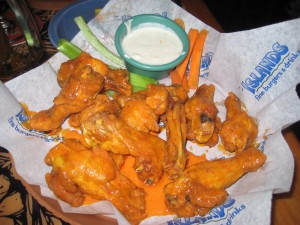 People just seem to think carrots and celery belong with wings...