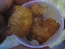 A perfect sample of tots.