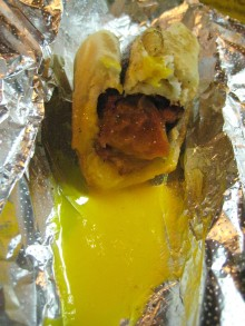 Hot dog.  With EGG sauce.