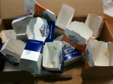 Remains of a crave case.  Don't try this at home.  Or anywhere.