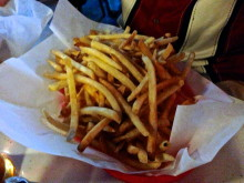 Enough fries for a dozen Lucys.