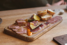 A plate of cured things.