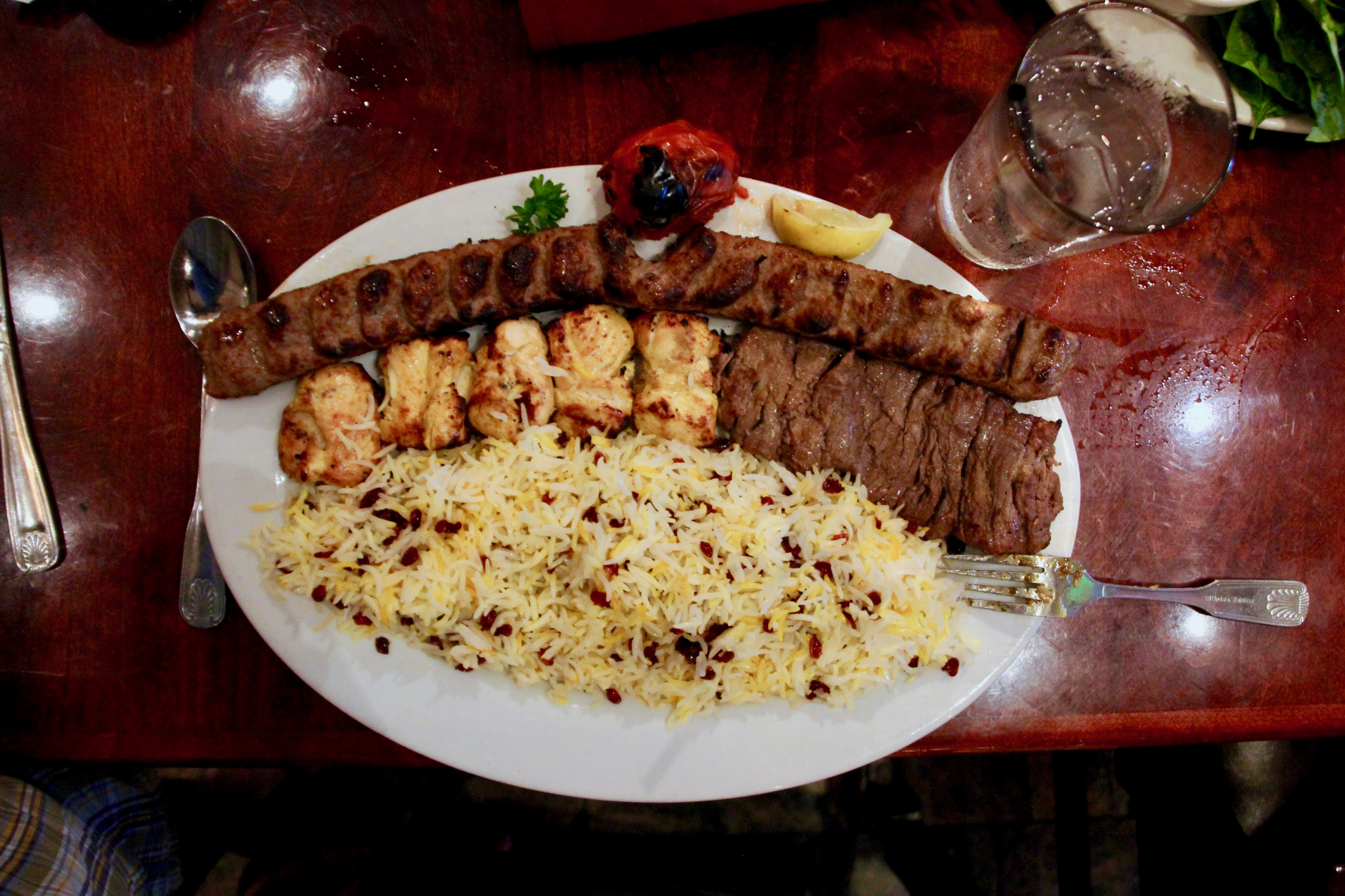 all of the rice and meats at the persian room the unvegan